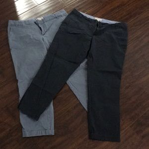 Lot of 2 Banana republic blue size 14 khaki pants